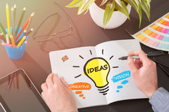 Ideas Creative Social Media Bulb Networking Vision Royalty Free Stock Photo
