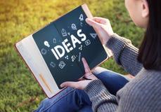 Ideas Creative Thinking Imagination Concept. People Ideas Creative Thinking Imagination royalty free stock photo