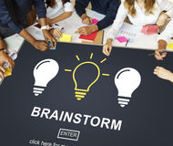 Ideas Creative Thinking Imagine Inspiration Concept. Students Ideas Creative Thinking Imagine Inspiration Royalty Free Stock Photos