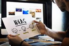 Ideas Creative Thinking People Graphic Concept Royalty Free Stock Photos