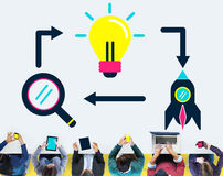 Ideas Creativity Creative Launch Futuristic Concept.  Royalty Free Stock Photos