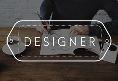 Ideas Creativity Design Imagination Inspiration Concept. Business Man Sketching Ideas Creativity Design Imagination Inspiration stock photography