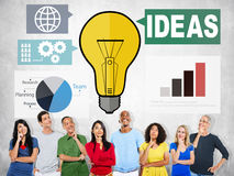 Ideas Creativity Graph Inspiration Thoughts Internet Concept.  Royalty Free Stock Photo