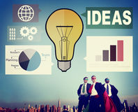 Ideas Creativity Graph Inspiration Thoughts Internet Concept Royalty Free Stock Photos