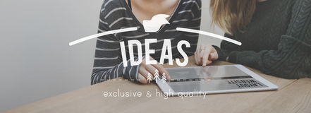 Ideas Creativity Thoughts Imagination Inspiration Plan Concept royalty free stock photos