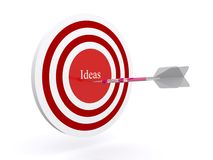Ideas dart board Royalty Free Stock Photography