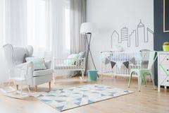 Ideas de adornamiento del sitio del bebé Imagen de archivo libre de regalías