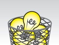 Ideas de la basura Imagen de archivo libre de regalías