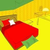 Ideas de la iluminación del dormitorio Imagen de archivo