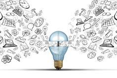 Ideas de la innovación del negocio ilustración del vector