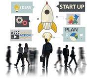 Ideas de lanzamiento Team Success Concept del planeamiento de la innovación Fotografía de archivo