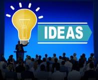 Ideas de las aspiraciones que piensan concepto de la estrategia de Vision de la innovación Fotos de archivo libres de regalías