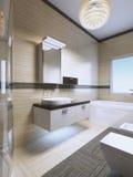 Ideas de los muebles del cuarto de baño Foto de archivo libre de regalías