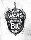 Ideas del cartel Fotos de archivo libres de regalías