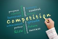 Ideas del concepto de la competencia y otras palabras relacionadas Fotografía de archivo libre de regalías