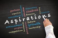 Ideas del concepto de las aspiraciones y otras palabras relacionadas Fotos de archivo