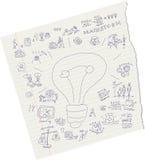 Ideas del drenaje en el papel Foto de archivo
