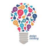 Ideas del ejemplo en el campo del diseño Fotografía de archivo