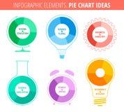 Ideas del gráfico de sectores Imagen de archivo libre de regalías