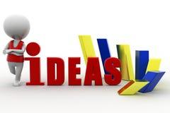 ideas del hombre 3d Fotografía de archivo libre de regalías