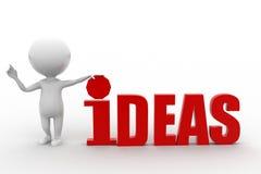 ideas del hombre 3d Imagenes de archivo