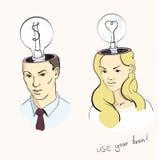 Ideas del hombre y de las mujeres Imagen de archivo