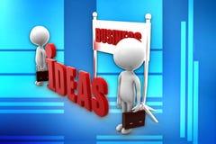 ideas del negocio del hombre 3d Fotos de archivo