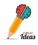 Ideas design, vector illustration. Royalty Free Stock Photos