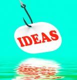 Ideas en pensamientos y conceptos creativos de las exhibiciones de gancho Fotos de archivo libres de regalías