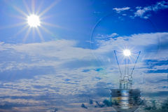 Ideas, energy from the sun Royalty Free Stock Photography