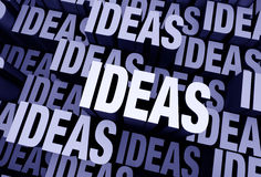 Ideas Everywhere Royalty Free Stock Photos