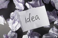 Ideas evolution Stock Images