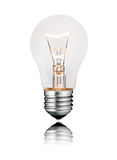 Ideas - Flawless Lightbulb photo with Reflection Royalty Free Stock Images