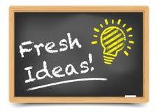 Ideas frescas de la pizarra Fotografía de archivo