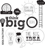 Ideas handdrawn or lettering for idea and innovati Royalty Free Stock Images