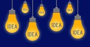 Ideas. Having new and fresh ideas Stock Image