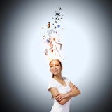 Ideas in head Stock Image
