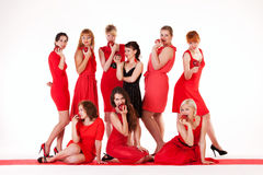 Ideas for hen party. Let it be red Royalty Free Stock Photo
