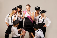 Ideas for hen party: find the garter Royalty Free Stock Photo