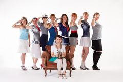 Ideas for hen party: salute your bride Royalty Free Stock Photography