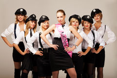 Ideas for hen party: take your friends with you Royalty Free Stock Images