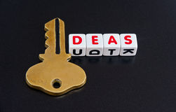 Ideas hold the key Stock Image