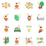 Ideas Icons Flat Set Stock Photo