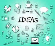 Ideas Icons Means Choices Choose And Think Royalty Free Stock Photo