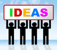 Ideas Idea Means Conception Invention And Innovation. Idea Ideas Representing Innovations Display And Inventions Stock Photo