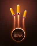 Ideas innovadoras stock de ilustración