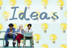 Ideas Innovation Tactics Thoughts Plan Concept. People Creative Ideas Together  Concept Royalty Free Stock Photos
