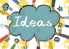 Ideas Innovation Tactics Thoughts Plan Concept. People Thinking and Ideas Innovation Plan Royalty Free Stock Image