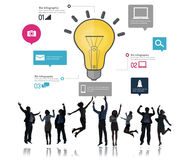 Ideas Inspiration Creativity Biz Infographic Innovation Concept Stock Image