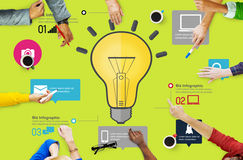 Ideas Inspiration Creativity Biz Infographic Innovation Concept.  Royalty Free Stock Photo